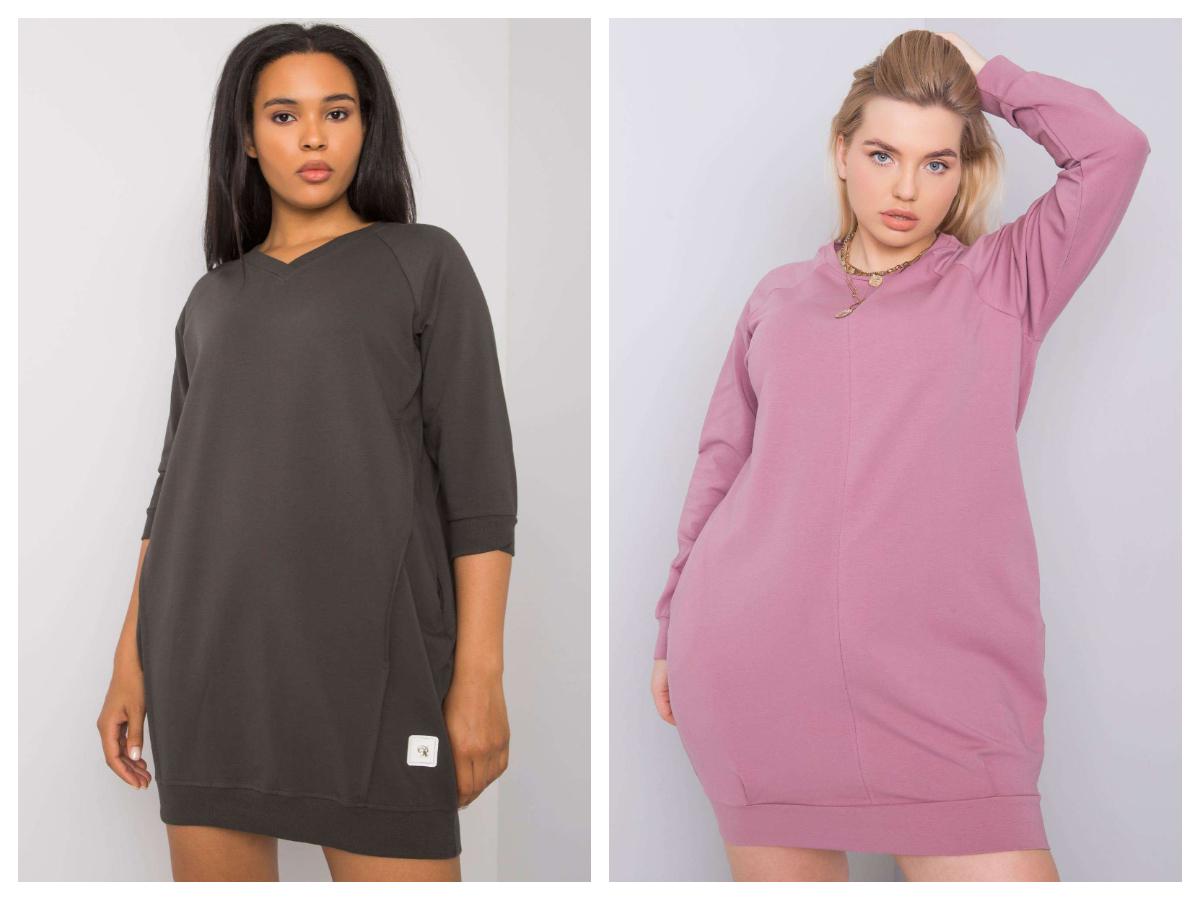 Sukienki damskie plus size w stylu homewear